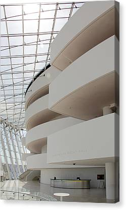 Unique Structure Canvas Print - Kauffman Center For Performing Arts by Mike McGlothlen
