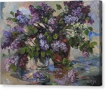 Still Life Canvas Print - Lilacs by Tigran Ghulyan