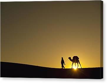 Merzouga, Morocco Canvas Print by Axiom Photographic