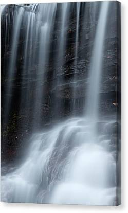 Misty Canyon Waterfall Canvas Print by John Stephens