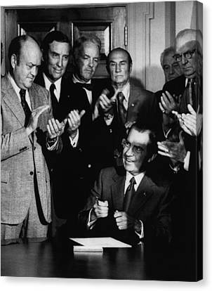 Nixon Presidency.  From Left  Us Canvas Print by Everett