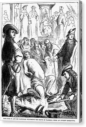 Persecution Of Waldenses Canvas Print by Granger