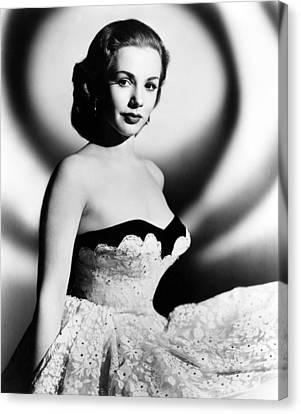1950s Fashion Canvas Print - Piper Laurie, 1952 by Everett