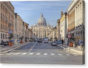 Rome - St. Peter's Basilica Canvas Print by Joana Kruse