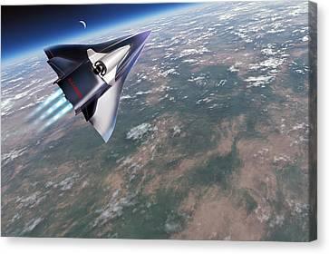 Saenger-horus Spaceplane, Artwork Canvas Print by Detlev Van Ravenswaay
