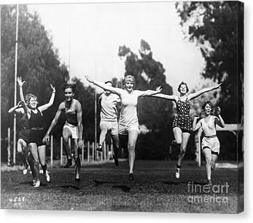 Footrace Canvas Print - Silent Film Still: Sports by Granger