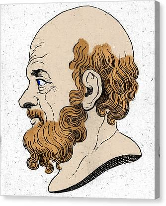 Socrates, Greek-athenian Philosopher Canvas Print by Photo Researchers