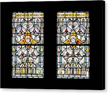 Stained Glass Window Canvas Print by Rudy Umans