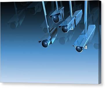 Surveillance, Conceptual Image Canvas Print by Victor Habbick Visions