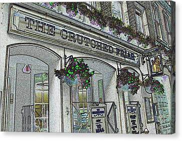Crutch Canvas Print - The Crutched Friar Public House by David Pyatt
