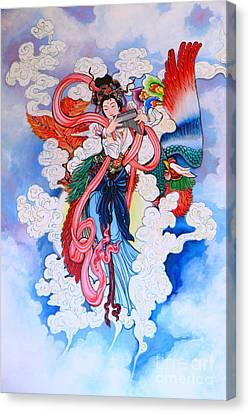 tradition Chinese painting on wall  Canvas Print by Phalakon Jaisangat