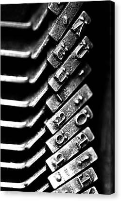 Typewriter Keys Canvas Print by Falko Follert