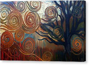 Canvas Print featuring the painting Untitled Tree by Monica Furlow