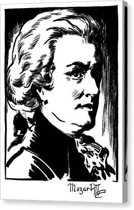 Wolfgang Amadeus Mozart Canvas Print by Granger