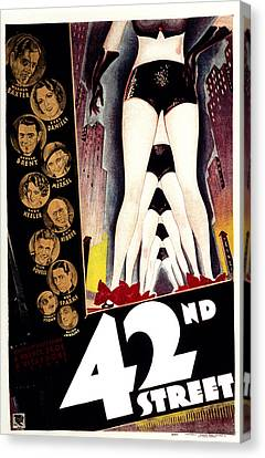 42nd Street, Warner Baxter, Bebe Canvas Print by Everett