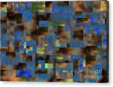 Canvas Print featuring the digital art 4312 by Leo Symon