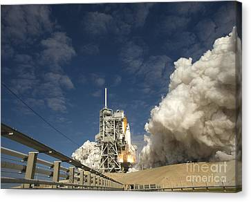 Space Shuttle Atlantis Lifts Canvas Print by Stocktrek Images
