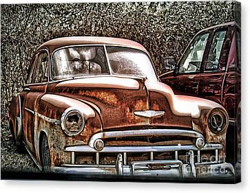 Canvas Print featuring the photograph 49 Chevy by Joe Finney