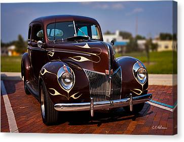 '49 Ford Two Door Sedan Canvas Print by Christopher Holmes