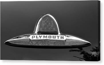 49 Plymouth Emblem Canvas Print by David Lee Thompson