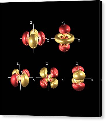 4d Electron Orbitals Canvas Print by Dr Mark J. Winter