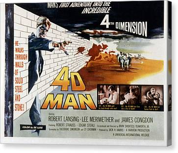 4d Man, Robert Lansing, 1959 Canvas Print by Everett