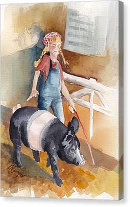 4h Series 3 Pig Tails Canvas Print