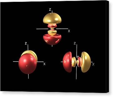 4p Electron Orbitals Canvas Print by Dr Mark J. Winter