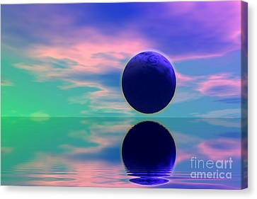 Planet Reflection Canvas Print by Odon Czintos