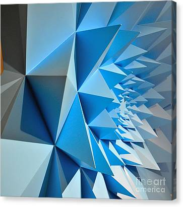 Palm Canvas Print - Architectural Series  by Terry Troupe