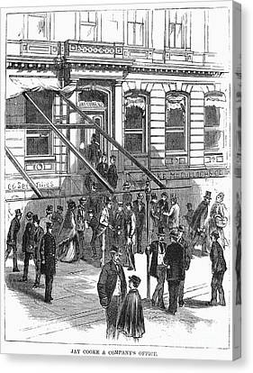 Bank Panic, 1873 Canvas Print by Granger