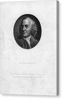 Benjamin Franklin, American Polymath Canvas Print by Photo Researchers