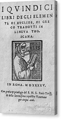 Euclid, Ancient Greek Mathematician Canvas Print by Science Source