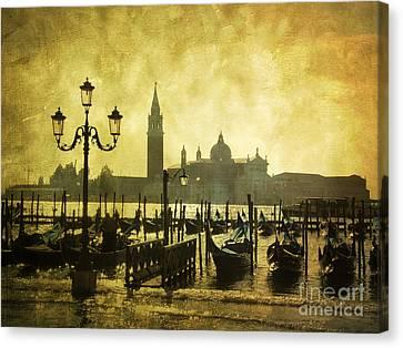 Gondolas. Venice Canvas Print by Bernard Jaubert