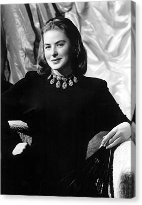 Ingrid Bergman, Portrait Canvas Print by Everett