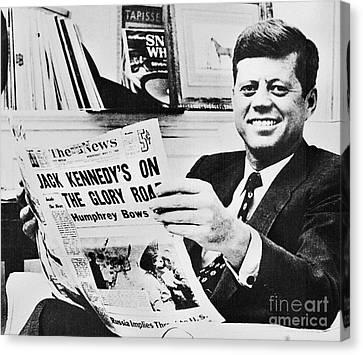 John F. Kennedy (1917-1963) Canvas Print by Granger