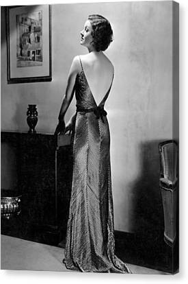 Myrna Loy, Mgm Portrait By Clarence Canvas Print by Everett