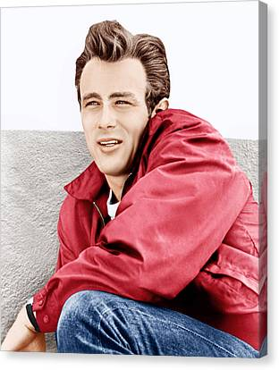 Windbreaker Canvas Print - Rebel Without A Cause, James Dean, 1955 by Everett