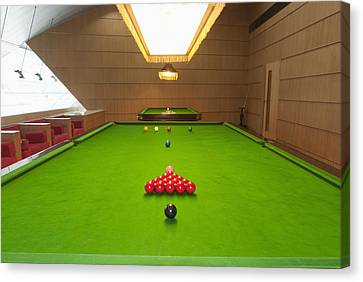 Snooker Room Canvas Print by Guang Ho Zhu