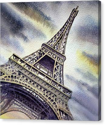 The Eiffel Tower Canvas Print - The Eiffel Tower  by Irina Sztukowski
