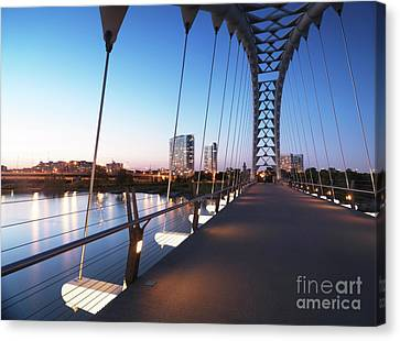 Toronto The Humber River Arch Bridge Canvas Print by Oleksiy Maksymenko