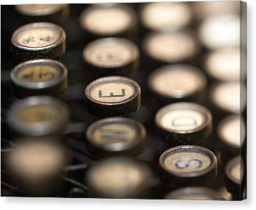 Typewriter Keys Canvas Print
