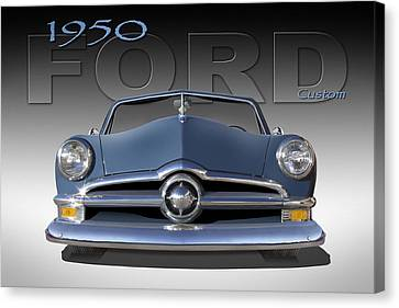 Lowrider Canvas Print - 50 Ford Custom Convertible by Mike McGlothlen