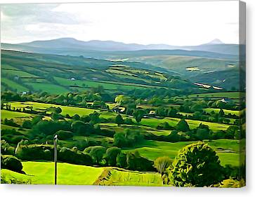 Canvas Print featuring the photograph 50 Shades Of Green by Charlie and Norma Brock