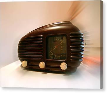 50's Radio Canvas Print by Alessandro Della Pietra