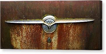 54 Buick Emblem Canvas Print by Steve McKinzie