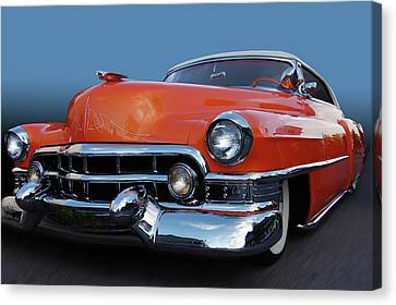 Canvas Print featuring the photograph 54 Cadillac De Ville by Bill Dutting