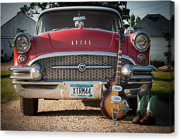 55 Buick Special With 1957 Magnatone Mark V Guitar Canvas Print by Toni Thomas