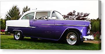 Canvas Print featuring the photograph 55 Chevy by Nick Kloepping