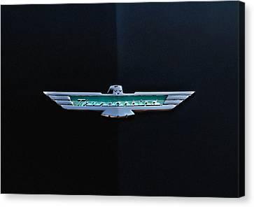 '56 T Bird Badge Canvas Print by Douglas Pittman